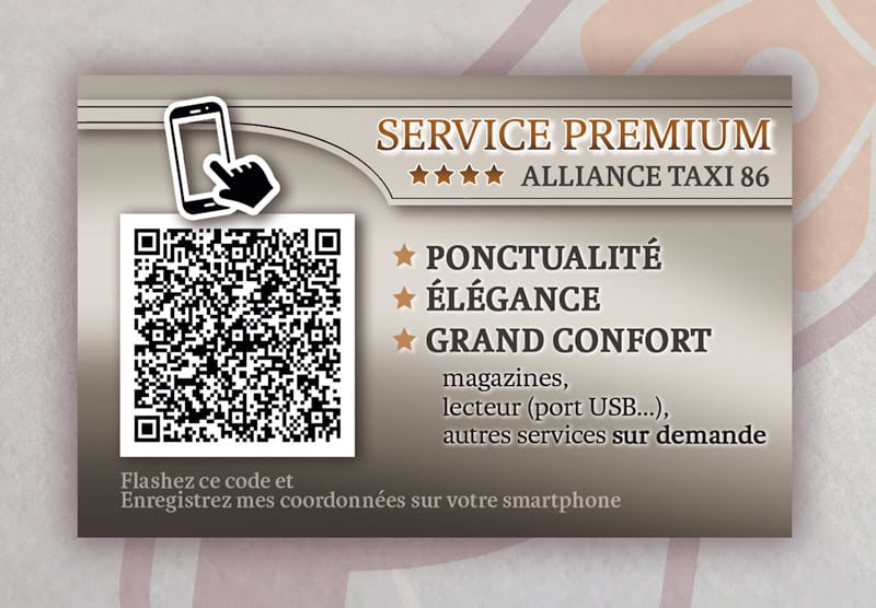 ALLIANCE TAXI Carte de Visite 2015, Verso