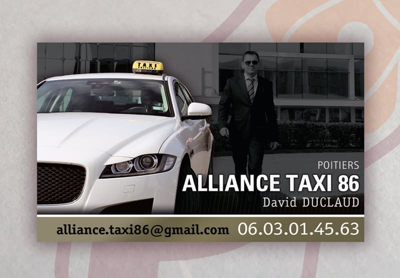 ALLIANCE TAXI Carte de Visite 2017, Recto