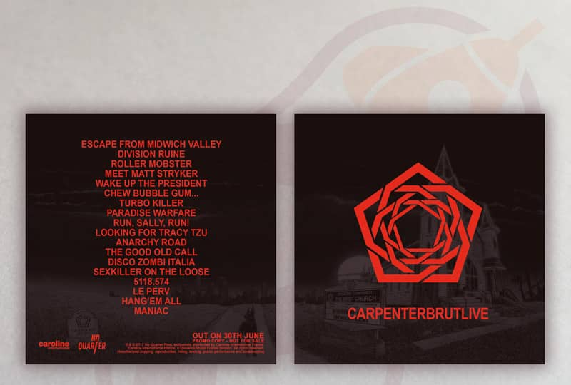 CARPENTER BRUT Live Promo CD