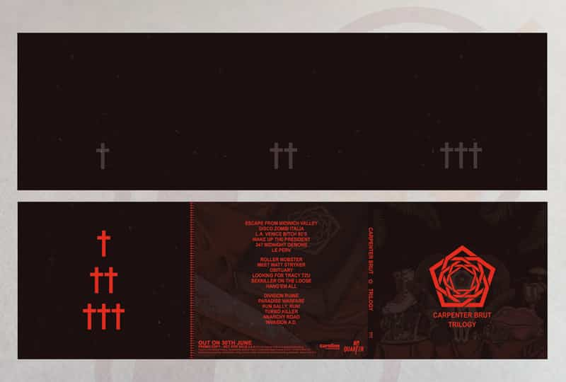 CARPENTER BRUT Trilogy Promo CD