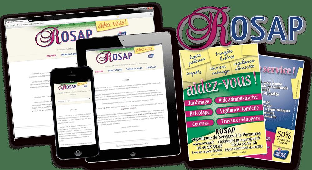 ROSAP Site Web, Flyers, Logo